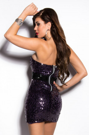 Purple Sequin Minidress