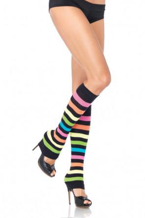 Neon Rainbow Leg Warmers