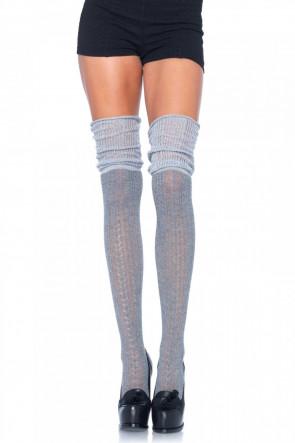 Over The Knee Scrunch Sock grå