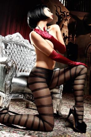 Striped Net Pantyhose