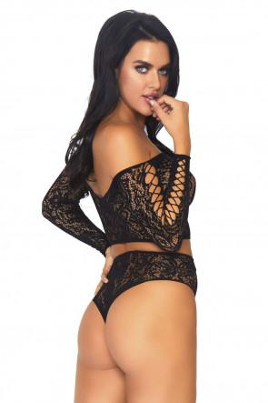 2pc high waist thong set
