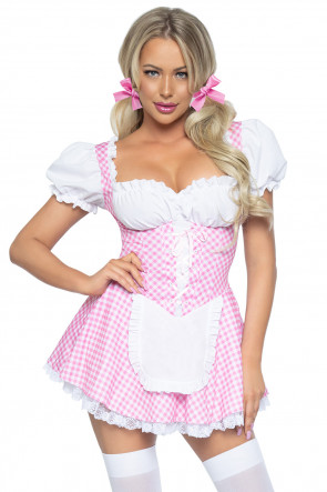 Gingham Dress pink