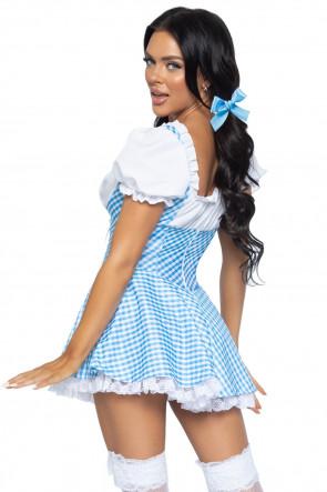 Gingham Dress blue