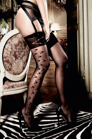Patterned Jacquard Thigh Highs
