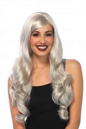 Long Wavy Wig grey