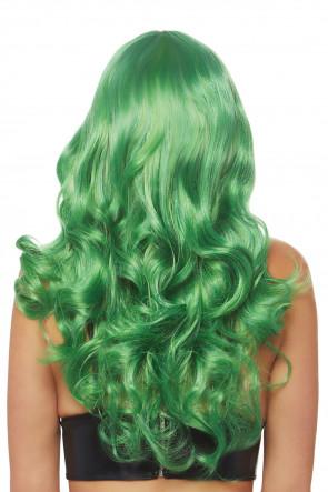 Misfit Long Wavy Wig green