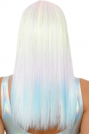 Straight Bang Pastel Ombre Wig