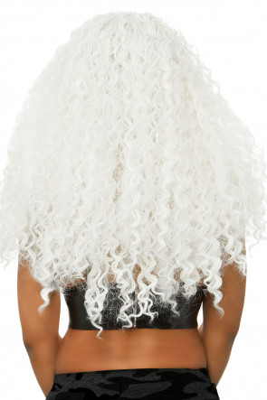 Long Curly Wig white