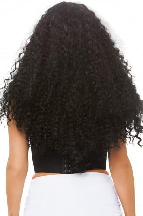 Long Curly Wig black