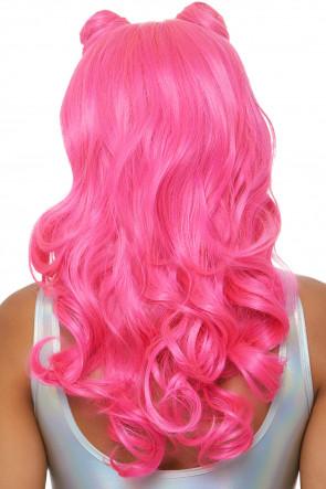 Beachy Waves Long Wig pink