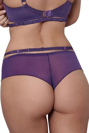 Miami Vibe Flower Lace - Brazilian Thong Violet