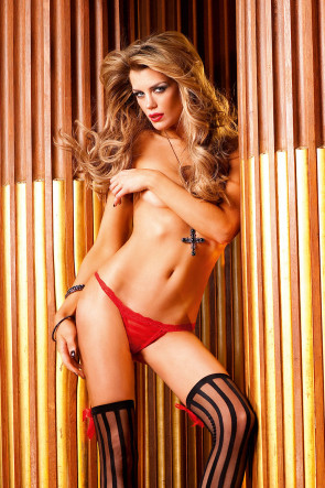 Red Lace G-String