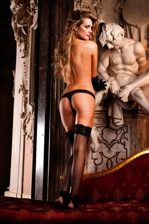 Lace Black Thong