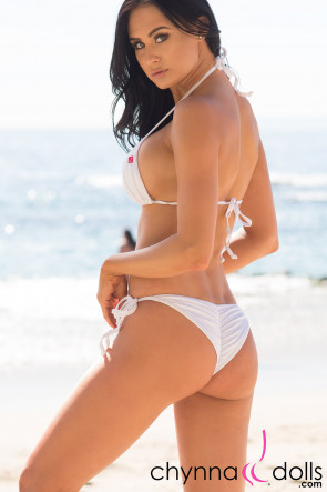 Laguna  String Swimsuit in Solid White