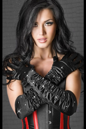 Black Strass Gloves