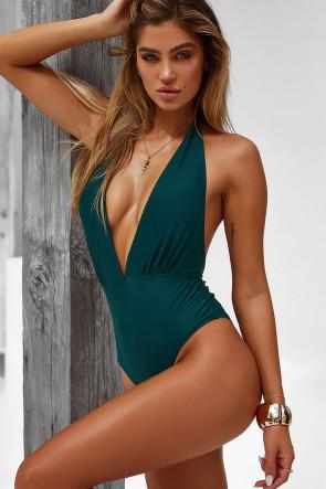 Liz Hunter Green Monokini