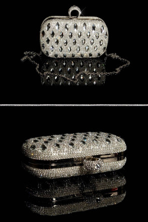 Glamour Clutch Bag with Rhinestones