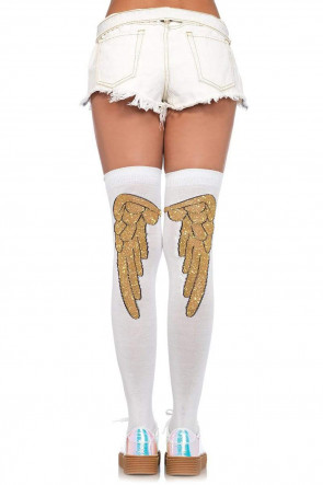 Angel Wing Over Knee Socks