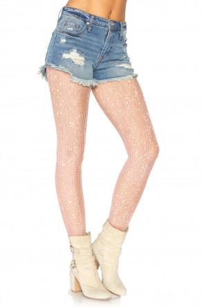 Crocheted lurex pantyhose