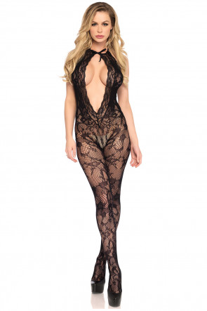Lace keyhole bodystocking