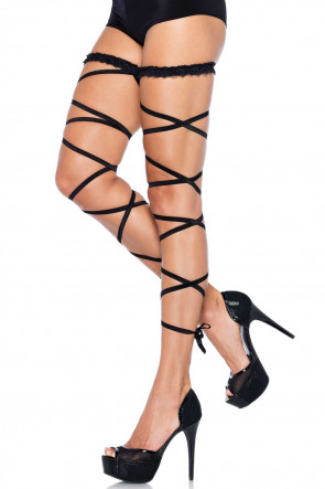 Garter Leg Wrap Set Black
