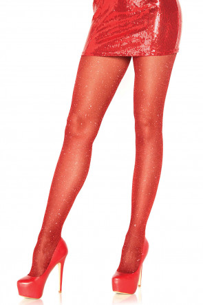Lurex Pantyhose Red