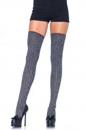 Heather Rib Knit Thigh Highs