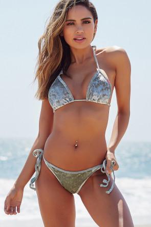 Laguna Sage Velvet Single Rise Scrunch
