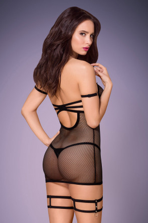 Strappy Chemise with Spicy Studs