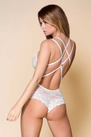 Tempting Lace Teddy White