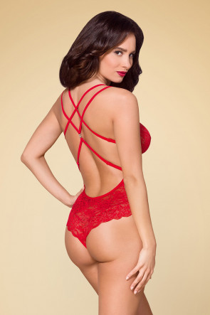 Tempting Lace Teddy Red