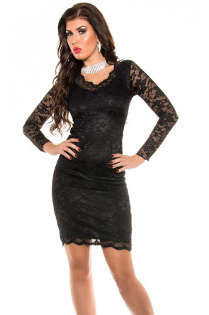 Party Dress V-cut Lace