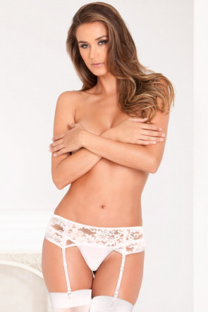 White Lace Garter Belt