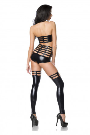 Saresia Strappy Wet look Set