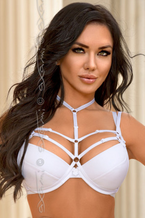 Venetian Mirror Strappy Deluxe - Harness White