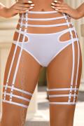 Venetian Mirror Strappy Deluxe - Garter Belt White